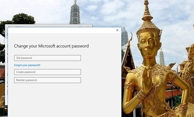 Password in Windows 10 9