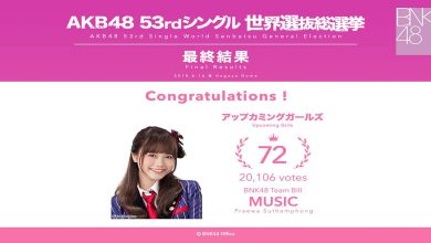 Photo of Music BNK48 ได้อันดับ 72 ในการเลือกตั้ง AKB48 53rd
