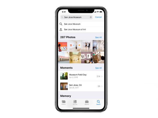 photo search and sharing IOS12