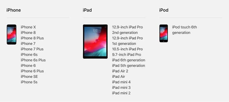 ios12 devices