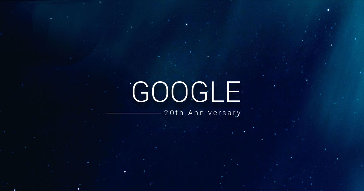Google 20TH ANNIVERSARY