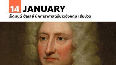 Photo of 14 มกราคม เอ็ดมันด์ ฮัลเลย์ นักดาราศาสตร์ชาวอังกฤษ เสียชีวิต