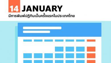 Photo of 14 มกราคม มีการพิมพ์ปฏิทินเป็นครั้งแรกในประเทศไทย