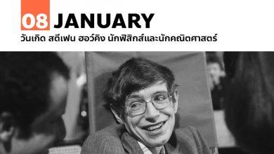 Photo of 8 มกราคม วันเกิด สตีเฟน ฮอว์คิง นักฟิสิกส์และนักคณิตศาสตร์