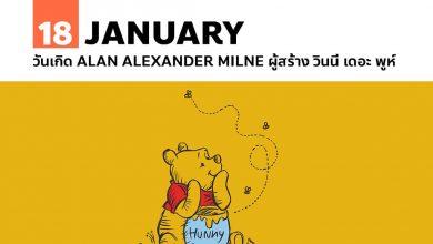 18 มกราคม วันเกิด Alan Alexander Milne ผู้สร้าง วินนี่ เดอะ พูห์