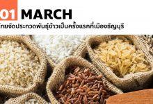 Photo of 1 มีนาคม ไทยจัดประกวดพันธุ์ข้าวเป็นครั้งแรกที่เมืองธัญบุรี
