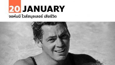 20 มกราคม จอห์นนี ไวส์สมุลเลอร์ เสียชีวิต