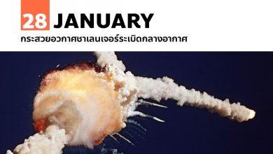 28 มกราคม กระสวยอวกาศชาเลนเจอร์ระเบิดกลางอากาศ