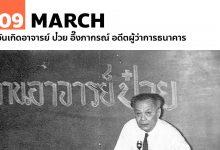 9 มีนาคม วันเกิดอาจารย์ ป๋วย อึ๊งภากรณ์ อดีตผู้ว่าการธนาคาร