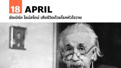 Photo of 18 เมษายน อัลเบิร์ต ไอน์สไตน์ เสียชีวิตด้วยโรคหัวใจวาย