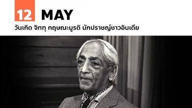 12 พฤษภาคม วันเกิด จิฑฑุ กฤษณะมูรติ นักปราชญ์ชาวอินเดีย