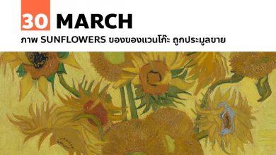 Photo of 30 มีนาคม ภาพ Sunflowers ของของแวนโก๊ะ ถูกประมูลขาย
