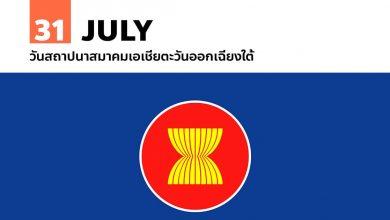 31 กรกฎาคม วันสถาปนาสมาคมเอเชียตะวันออกเฉียงใต้