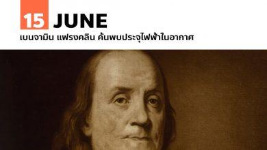 Photo of 15 มิถุนายน เบนจามิน แฟรงคลิน ค้นพบประจุไฟฟ้าในอากาศ