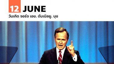 12 มิถุนายน วันเกิด จอร์จ เอช. ดับเบิลยู. บุช