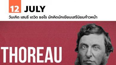 Photo of 12 กรกฎาคม วันเกิด เฮนรี เดวิด ธอโร นักคิดนักเขียนเสรีนิยมก้าวหน้า