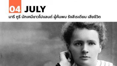 Photo of 4 กรกฎาคม มารี กูรี นักเคมีชาวโปแลนด์ ผู้ค้นพบ รังสีเรเดียม เสียชีวิต