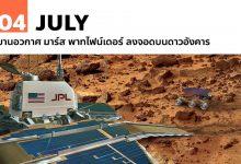 4 กรกฎาคม ยานอวกาศ มาร์ส พาทไฟน์เดอร์ ลงจอดบนดาวอังคาร
