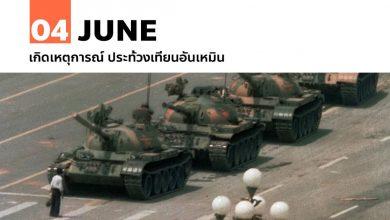 Photo of 4 มิถุนายน เกิดเหตุการณ์ ประท้วงเทียนอันเหมิน
