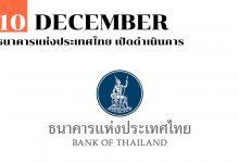 Photo of 10 ธันวาคม ธนาคารแห่งประเทศไทย เปิดดำเนินการ