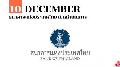 10 ธันวาคม ธนาคารแห่งประเทศไทย เปิดดำเนินการ