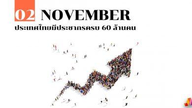 Photo of 2 พฤศจิกายน ประเทศไทยมีประชากรครบ 60 ล้านคน