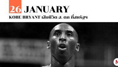 Kobe Bryant เสียชีวิต ประสบอุบัติเหตุ ฮ. ตก ที่สหรัฐฯ