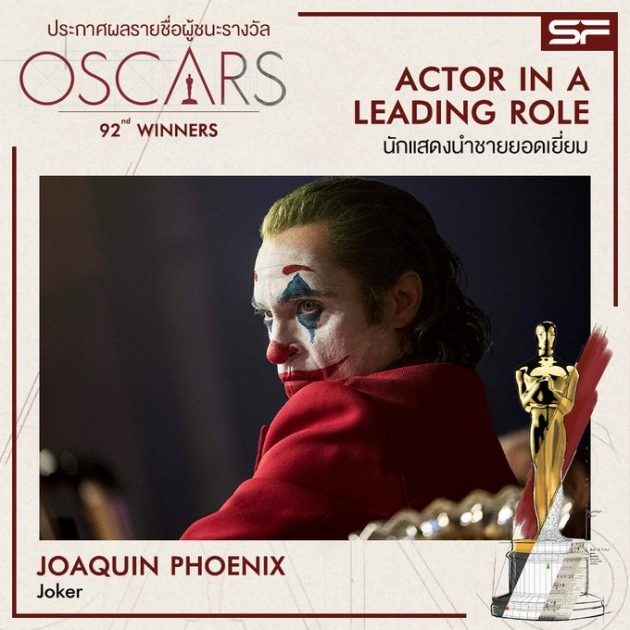 Oscars 2020 Best Actor in a Leading Role