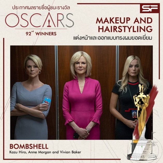 Oscars 2020 Best Makeup and Hairstyling