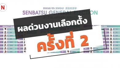 Photo of ผลด่วนครั้งที่ 2 งานเลือกตั้ง BNK48 ซิงเกิ้ลที่ 9 ปี 2020